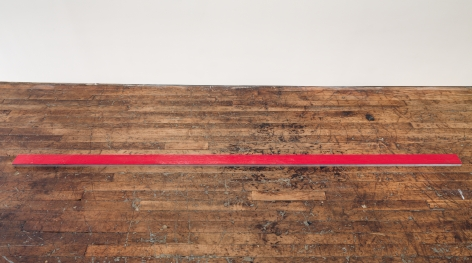 Alex Hay Untitled (Red plank)