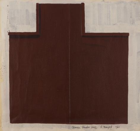 Robert Mangold, Maroon Window Wall 8/64