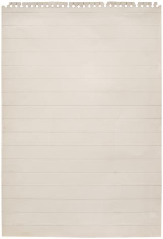 ALEX HAY, Untitled (Stenographer's Sheet)
