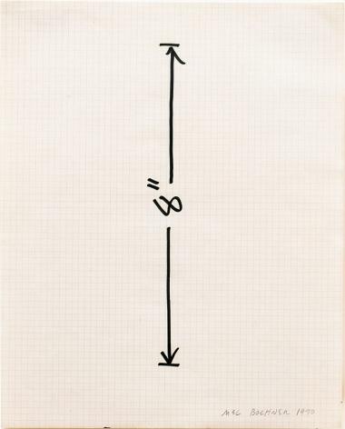 Mel Bochner Measurement Drawing: 8 inch Vertical