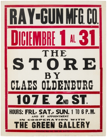 Claes Oldenburg The Store (Poster)