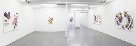 Pia Fries: wetter fahnen fächer – installation view 1