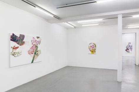 Pia Fries: wetter fahnen fächer– installation view 3
