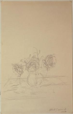 Alberto Giacometti Vase de fleurs