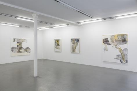 Pia Fries: wetter fahnen fächer– installation view 6
