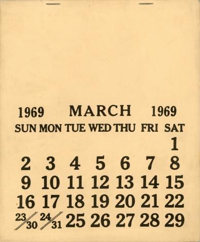 SETH SIEGELAUB, March 1969 [aka: One Month]