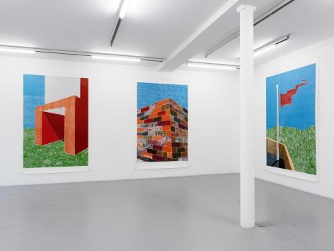 Thomas Schütte: Woodcuts 2011– installation view 2