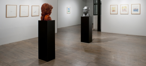 Thomas Schütte: New Watercolors (at 560 Broadway)– installation view 6