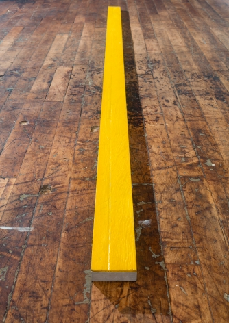 Alex Hay Untitled (Yellow plank)