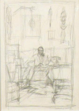 Alberto Giacometti Portrait de Pierre Loeb