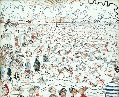 James Ensor Les bains à Ostend (The Baths at Ostende)