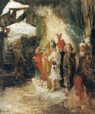 James Ensor Judas lançant l'argent dans le temple (Judas Flinging Pieces of Silver into the Temple)