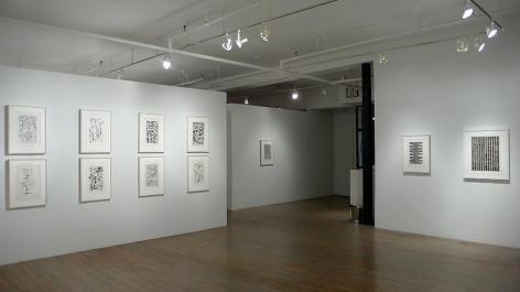 Jan Schoonhoven: Drawings– installation view 2