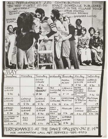 The Grand Union and Friends and Associates Calendar of Events April / May 1973