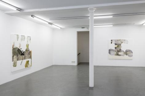 Pia Fries: wetter fahnen fächer– installation view 8