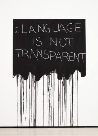 Language is Not Transparent, 1970