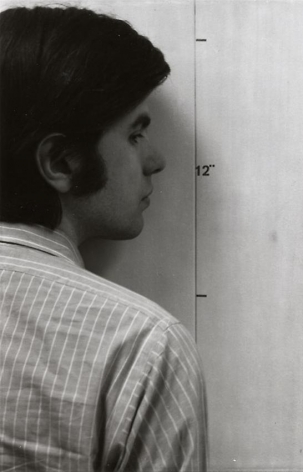 Mel Bochner Actual Size (Face) [diptych with Actual Size (Hand)]