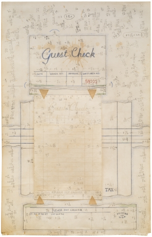 ALEX HAY, Study for Guest Check