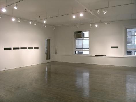 Helen Mirra: Hewn third – installation view 1
