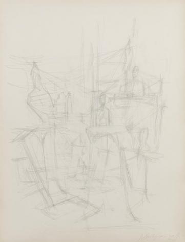 Alberto Giacometti L'atelier avec sculptures