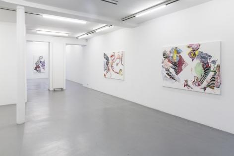 Pia Fries: wetter fahnen fächer– installation view 2