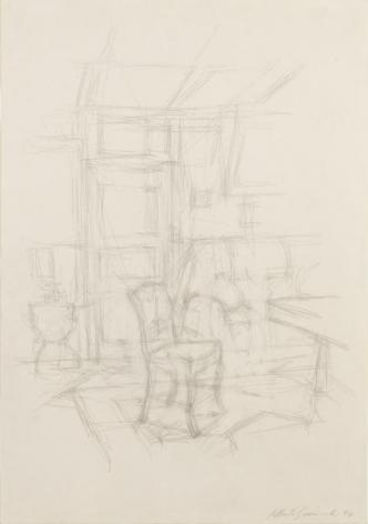 Alberto Giacometti Intérieur avec chaise (Stampa)