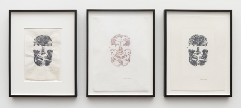 ALEX HAY, Face Print (Triptych)