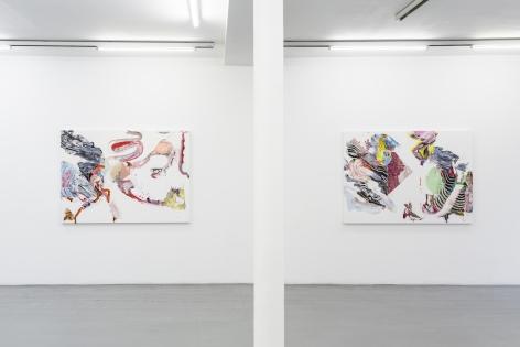 Pia Fries: wetter fahnen fächer– installation view 4