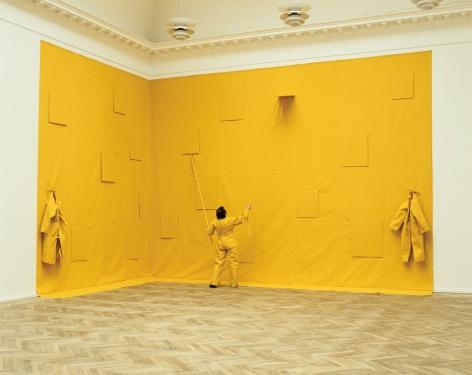 Wallformation Gelbmodellierung 1980/1981