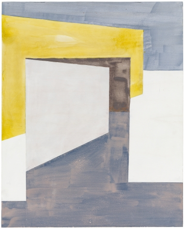 Ernst Caramelle Composition with Yellow Wall