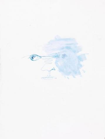 Untitled (portrait bleu)