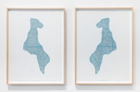 ALEX HAY, Dog Twins (Diptych)