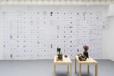 Matt Mullican: Collecting for the studio -Collecting 1959-2013– installation view 7