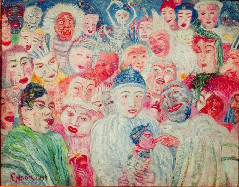 James Ensor Pierrot aux masques (Pierrot with Masks)