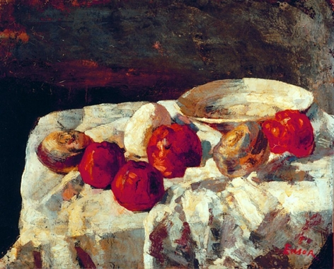James Ensor Les pommes rouges (The Red Apples)