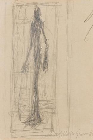Alberto Giacometti Nu debout dans l'atelier