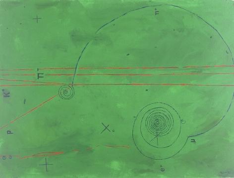 Jody Rasch, Particle Shower - Green