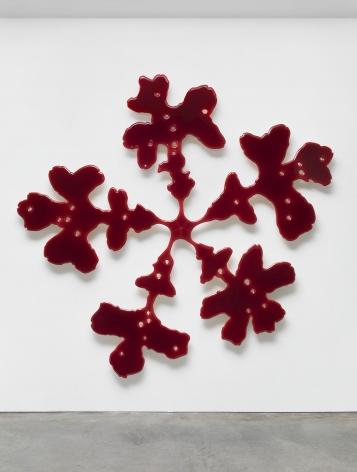 Red oak resin artwork