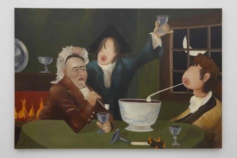 A Midnight Modern Conversation (Ignoring Hallucinations), 1996, Oil on linen