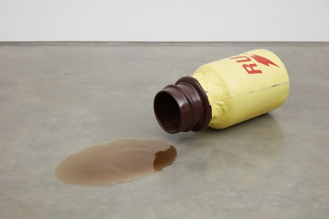 spilled can of polyurethane by john waters