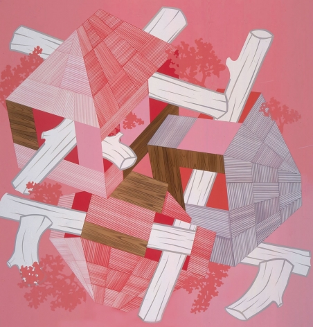 Pink abstraction by Kevin Appel