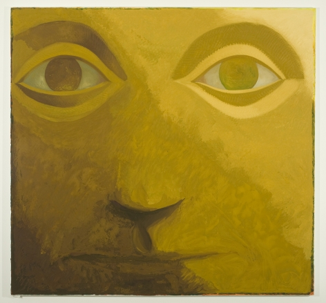 close up portrait of a face in yellow by jesse chapman