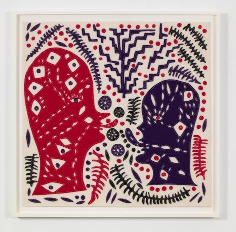 a felt artwork by chicago based artist william j. o'brien