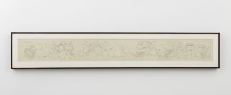 Tracce del racconto, 1975, Pencil and ink on mounted paper