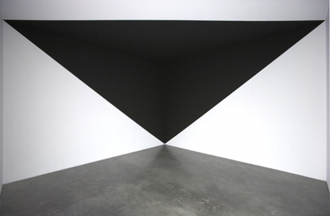 black triangle painted in corner by neil campbell
