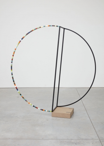 mutiny against measurement, 2016, Metal, paint, wood