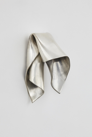 a silvered bronze wall hanging sculpture by anthony pearson