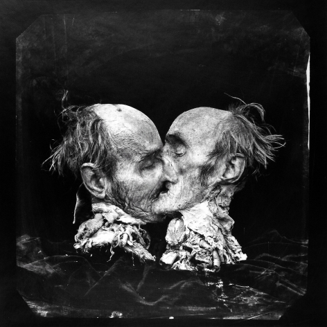 Joel-Peter Witkin, The Kiss (Le Basier), New Mexico, 1982, printed c. 1982