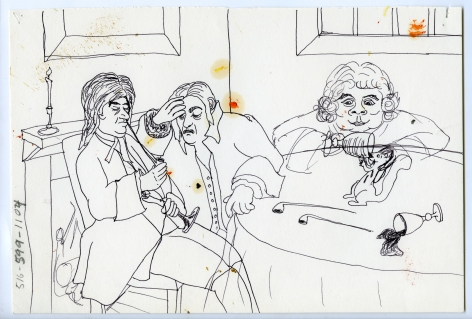 Wassail Suite #6, 1996, Ink on paper