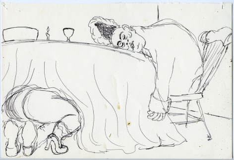 Wassail Suite #4, 1996, Ink on paper